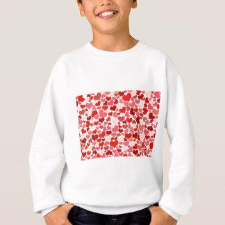 T-shirt Teste padrão dos corações do amor