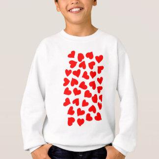 T-shirt Teste padrão vermelho do coração