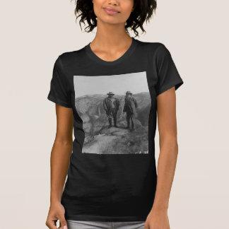 T-shirt Theodore Roosevelt e John Muir no ponto da geleira