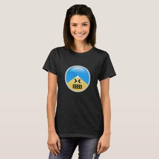 T-shirt tonto americano de Emoji do turbante do