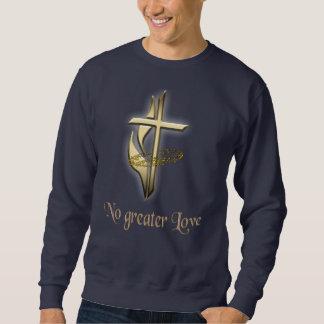 T-shirt transversais do cristão dos homens