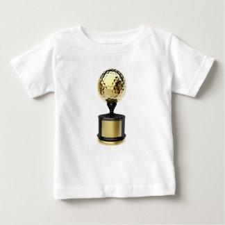T-shirt Troféu do ouro com bola de golfe