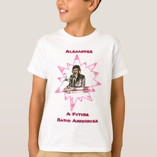 T-shirt Um anunciador de rádio futuro