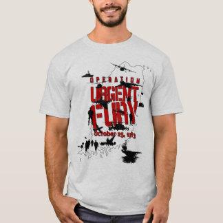 T-shirt urgente da ação da fúria da operação