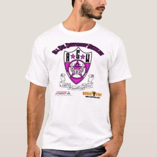 T-shirt urgente do ANÚNCIO da PARÓDIA da