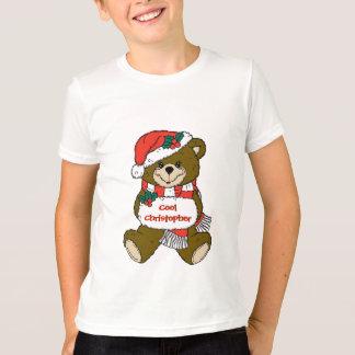 T-shirt Urso de ursinho do papai noel com chapéu e Muff