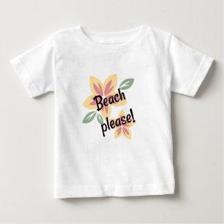 T-shirt Verão floral - praia por favor