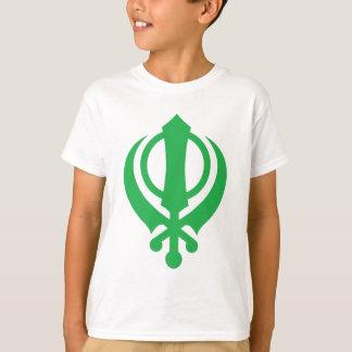 T-shirt Verde de Khanda do sikh