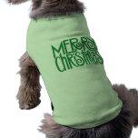 T-shirt verde do cão do Feliz Natal Camisas Para Cães
