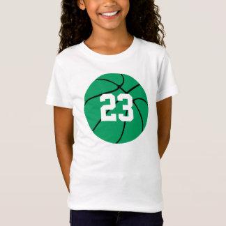 T-shirt verde feito sob encomenda do basquetebol