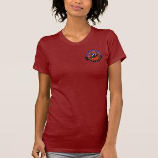 T-shirt vermelho das senhoras da estrela da