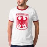 T-shirt vermelho de Bundeswehr