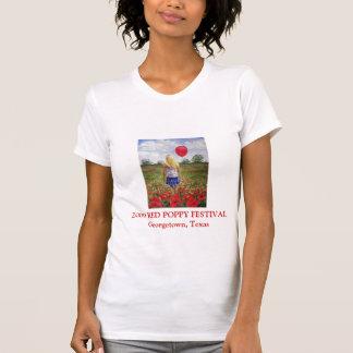 T-shirt vermelho do festival da papoila