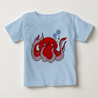 T-shirt vermelho do polvo