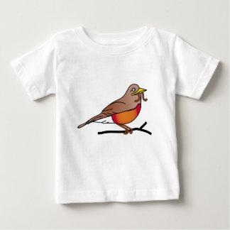 T-shirt vermelho-pisco de peito vermelho