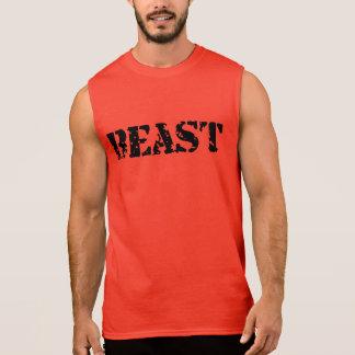 T-shirt vermelho ultra sem mangas do Gym dos