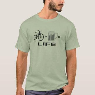 T-shirt Vida da cerveja das bicicletas
