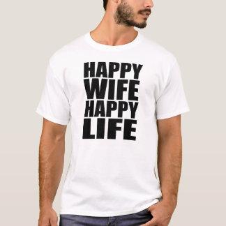 T-shirt Vida feliz da esposa feliz