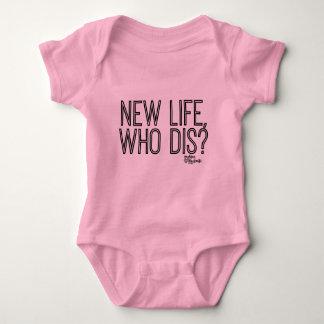 T-shirt Vida nova, que terno do corpo do bebê do Dis