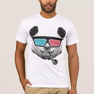 T-shirt Vidros 3-D da panda do vintage
