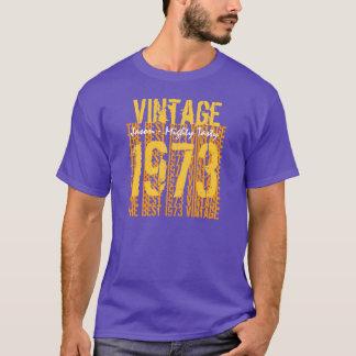 T-shirt Vintage 1973 do presente de aniversário de 40 anos