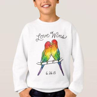 T-shirt Vitórias do amor - pássaros de Budgie