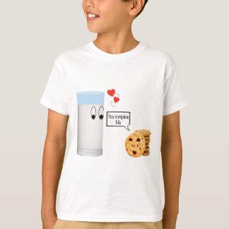 T-shirt Você termina-me leite e biscoitos