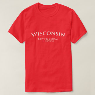 T-shirt Wisconsin - capital da fritada do pirralho do