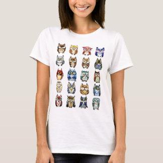 T-shirts 19 corujas e 1Cat
