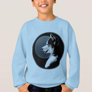 T-shirts A camisola ronca do miúdo do cão de trenó das