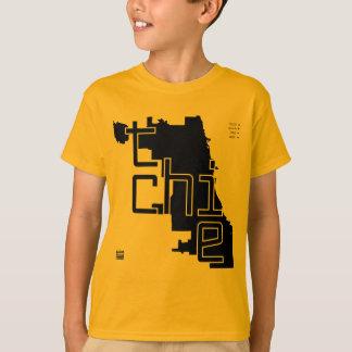 T-shirts A engrenagem dos miúdos do mapa do QUI