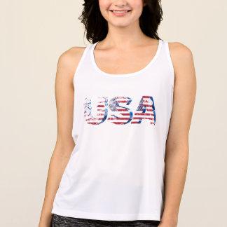 T-shirts a estrela patriótica listra a parte superior do