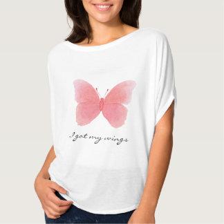 T-shirts A parte superior flowy das mulheres com a