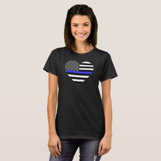 T-shirts A polícia dilui o coração da bandeira americana de