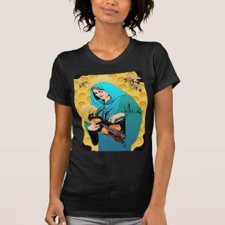 T-shirts A Virgem Maria Madonna & Bumble a abelha