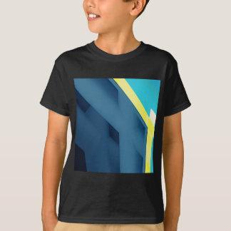 T-shirts Abstrato do azul