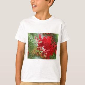 T-shirts Abstrato do vermelho e do verde