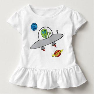 T-shirts Alex a alienígena - T do plissado da criança