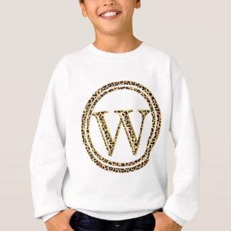 T-shirts alfabeto W do leopardo