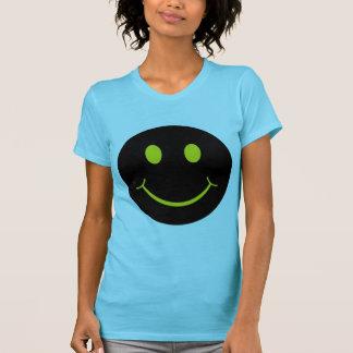 T-shirts Amarelo no smiley face preto