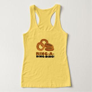 T-shirts Anel-um-Ding-Ding fritou o fast food da sucata dos