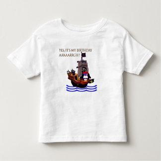T-shirts Aniversário pequeno do pirata