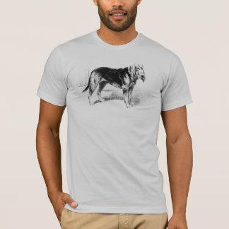 T-shirts Arte do Bloodhound do vintage