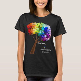 T-shirts Árvore do quebra-cabeça do arco-íris da