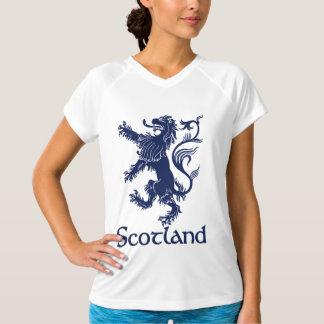 T-shirts Azuis marinhos desenfreados escoceses do leão