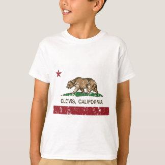 T-shirts bandeira clovis de Califórnia afligido