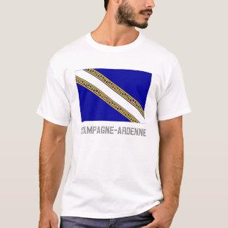 T-shirts Bandeira do Champagne Ardenne com nome