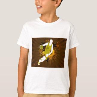 T-shirts basquetebol abstrato psicadélico