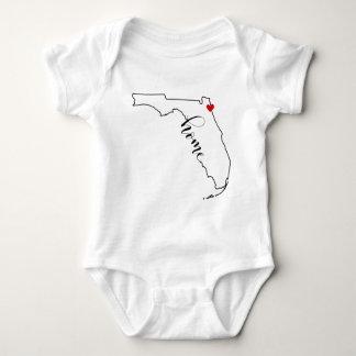 T-shirts Bebê Home Onsie de Florida Jacksonville