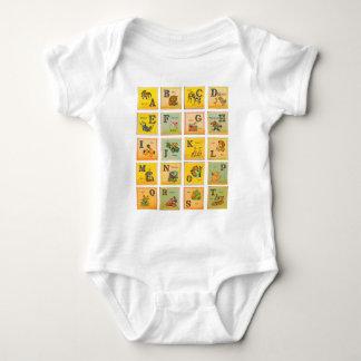 T-shirts Blocos do alfabeto do vintage